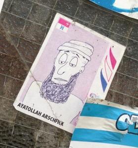 sticker ayatollah Arschfick Amsterdam