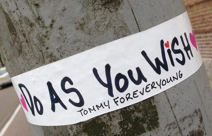 sticker do as you wish Tommy Forever young Amsterdam 2013