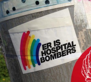 sticker er is hospital bombers Amsterdam