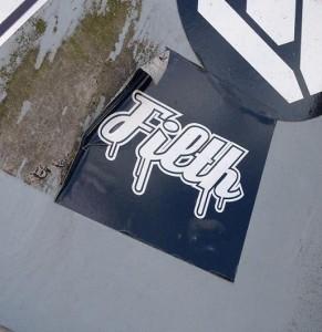 sticker filth Amsterdam art