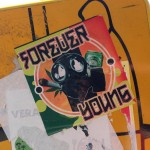 sticker forever young Amsterdam gasmask joint beer 2013
