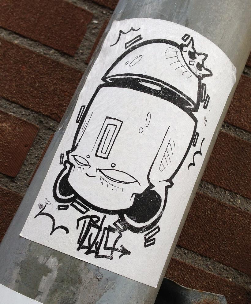 sticker hoofd met kroon Amsterdam