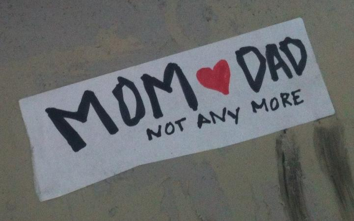 sticker mom love dad not any more Tommy foreverYoung 2012