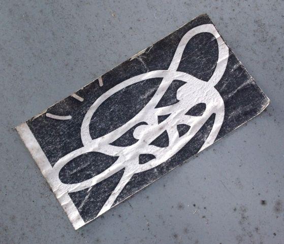 sticker s.m.a.b.i. Amsterdam De Pijp 2013 November