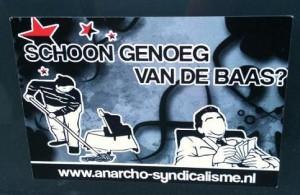sticker schoon genoeg van de baas anarcho-syndicalisme