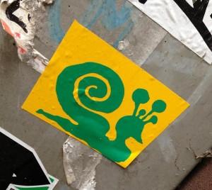 sticker snail Amsterdam 2013 slak