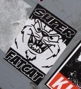 sticker super fatcat Amsterdam center 2014 February cat