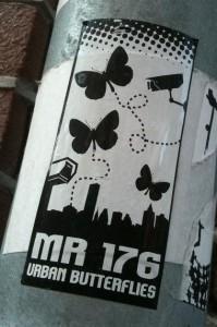 sticker urban butterflies mr 176 Amsterdam