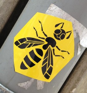 sticker wasp Amsterdam art wesp