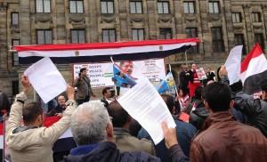 Demonstratie tegen Morsi Amsterdam Dam 28 juni 2013