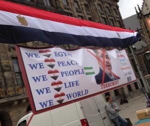 Demonstratie tegen Morsi Amsterdam Dam juni 2013