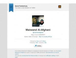 Maiwand Al-Afghani Twitter Islamic State Europe