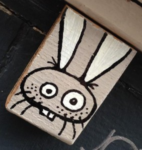 Rabbit on wood Bunny Brigade Amsterdam 2013 konijn op hout