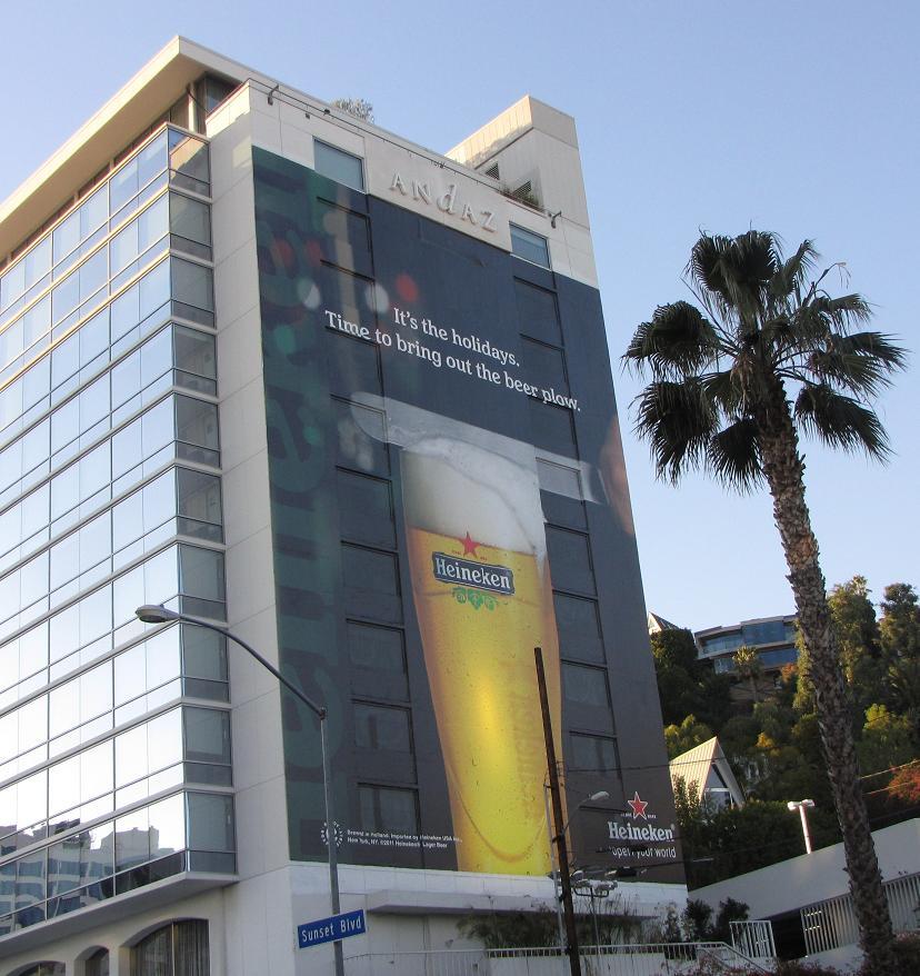 Reclame Heineken bier Los Angeles 2012