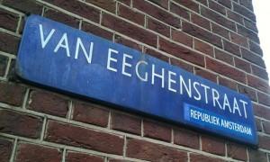 Republiek Amsterdam sticker Van Eeghenstraat