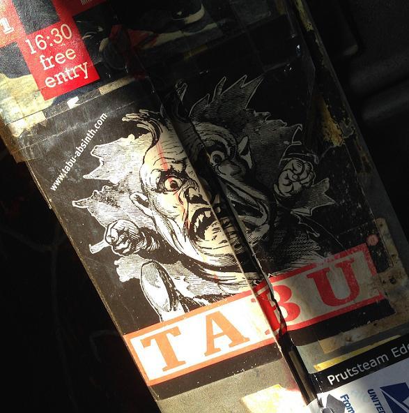 Tabu absinth sticker taboo Amsterdam center 2013 September taboe