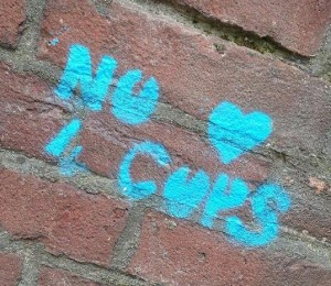 graffiti no love for cops Amsterdam 2013