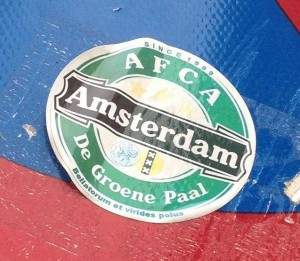 sticker AFCA Amsterdam 2013 de groene paal