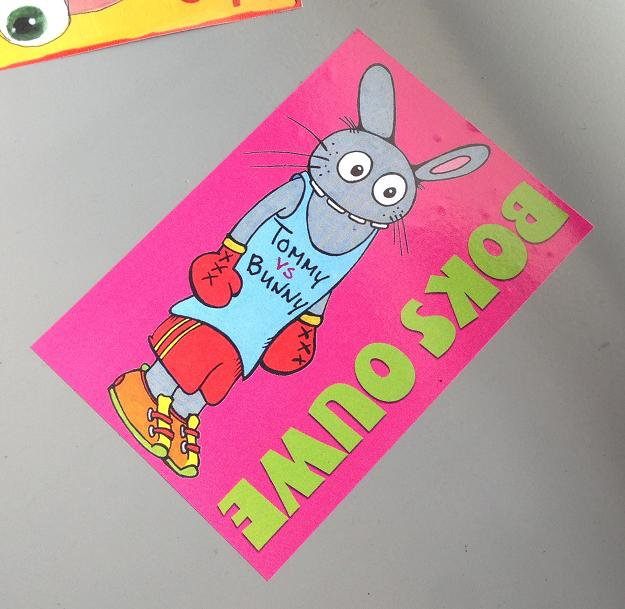 sticker Boks Ouwe Bunny Brigade Tommy FroverYoung Amsterdam 2013 August
