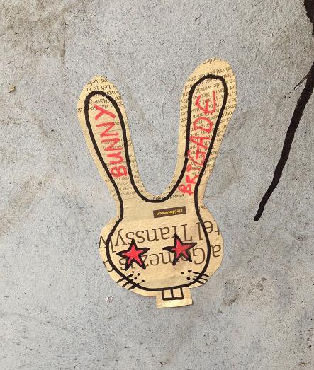 sticker Bunny Brigade Amsterdam konijn