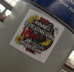 sticker Cannabis bevrijdingsdag 2013