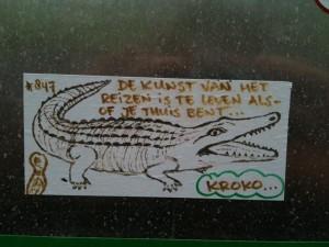 sticker Kroko kunst reizen Amsterdam