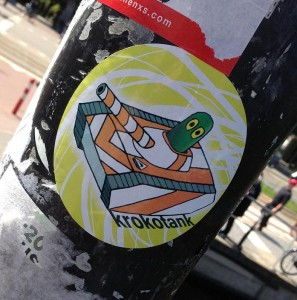 sticker Krokotank Amsterdam 2013