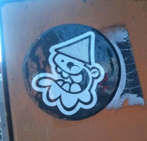 sticker Lastplak kabouter Amsterdam