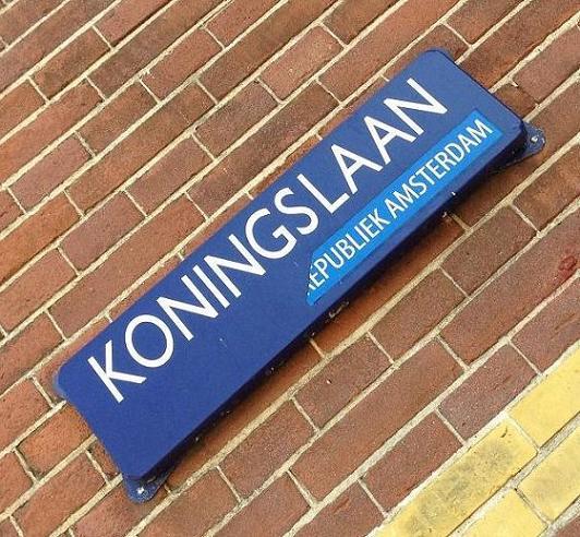 sticker Republiek Amsterdam Koningslaan 2013