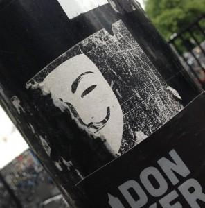 sticker Wikileaks Utrecht 2013