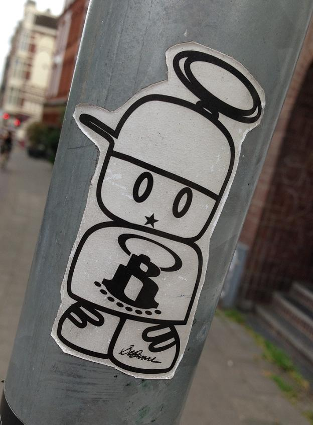 sticker be @ware Amsterdam 2013