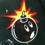 sticker bomb explosive Amsterdam 2012 bom