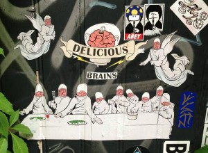 sticker delicious brains Last Supper Amsterdam 2013 1