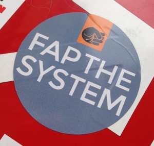 sticker fap the system Amsterdam anti-politics 2013