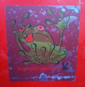 sticker frog Bunny Brigade Amsterdam kikker