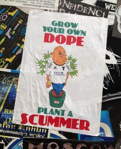 sticker grow your own dope plant a scummer Amsterdam 2013