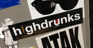 sticker highdrunks Amsterdam 2013