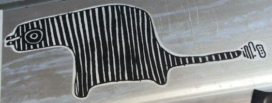 sticker info Aron papa Amsterdam south 2013 August animal beast art