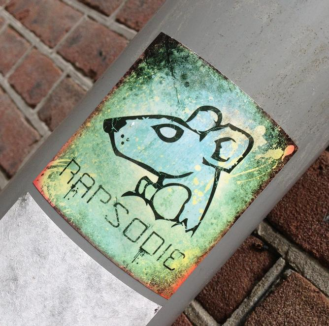 sticker rat rapsodie Amsterdam 2013