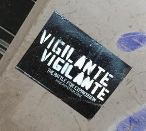sticker vigilante battle for expression Amsterdam 2013