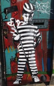 graffiti Bust Amsterdam center 2013 Bust-art September young crook boy prison