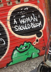 graffiti Laser 3.14 a woman should bloom Amsterdam Kinkerstraat 2013