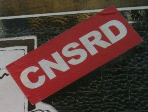 sticker CNSRD Amsterdam censored