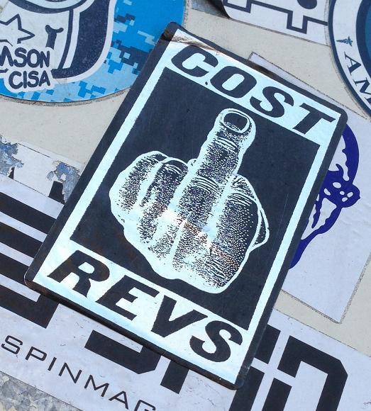 sticker Cost Revs middlefinger Amsterdam 2013