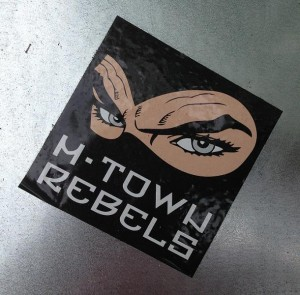 sticker M-town rebels Amsterdam Apollolaan 2013
