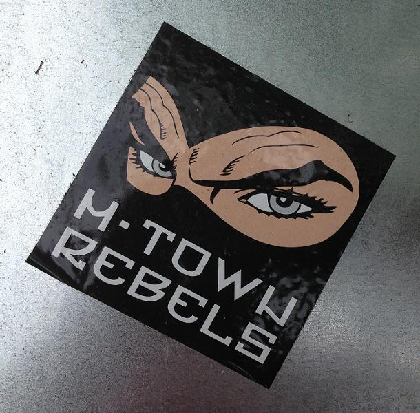 sticker M-town rebels Amsterdam Apollolaan 2013