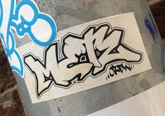 sticker Metz crew Amsterdam 2013
