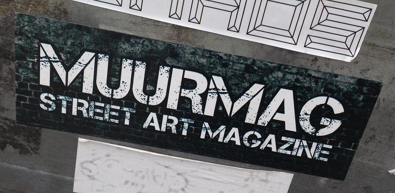sticker Muurmag Street Art Magazine Amsterdam 2013
