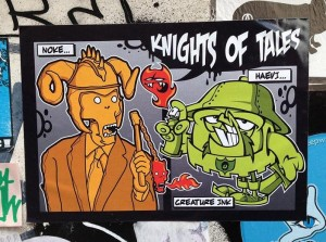sticker Noke Creature ink Haevi Knights of Tales Amsterdam