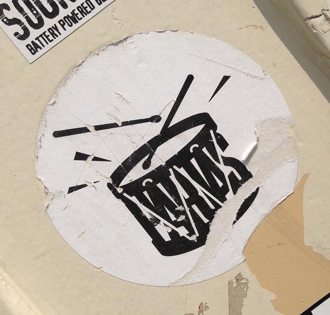 sticker Parias drumstel Amsterdam 2013